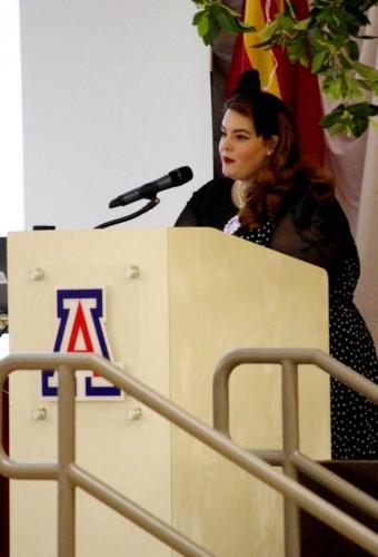 Tess Munsters Rede berührte das Publikum– Foto (c) Alee Schwarz – Quelle