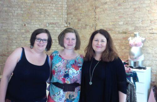 v.r.n.l. Anne-Luise, Anja von Everyday Boudoir, Agnieszka Berns von Brafinette